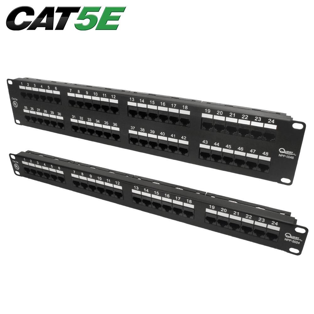 Cat5e Utp Patch Panel Quest Technology International To Punch Wires Further Ether Also 110 Wiring