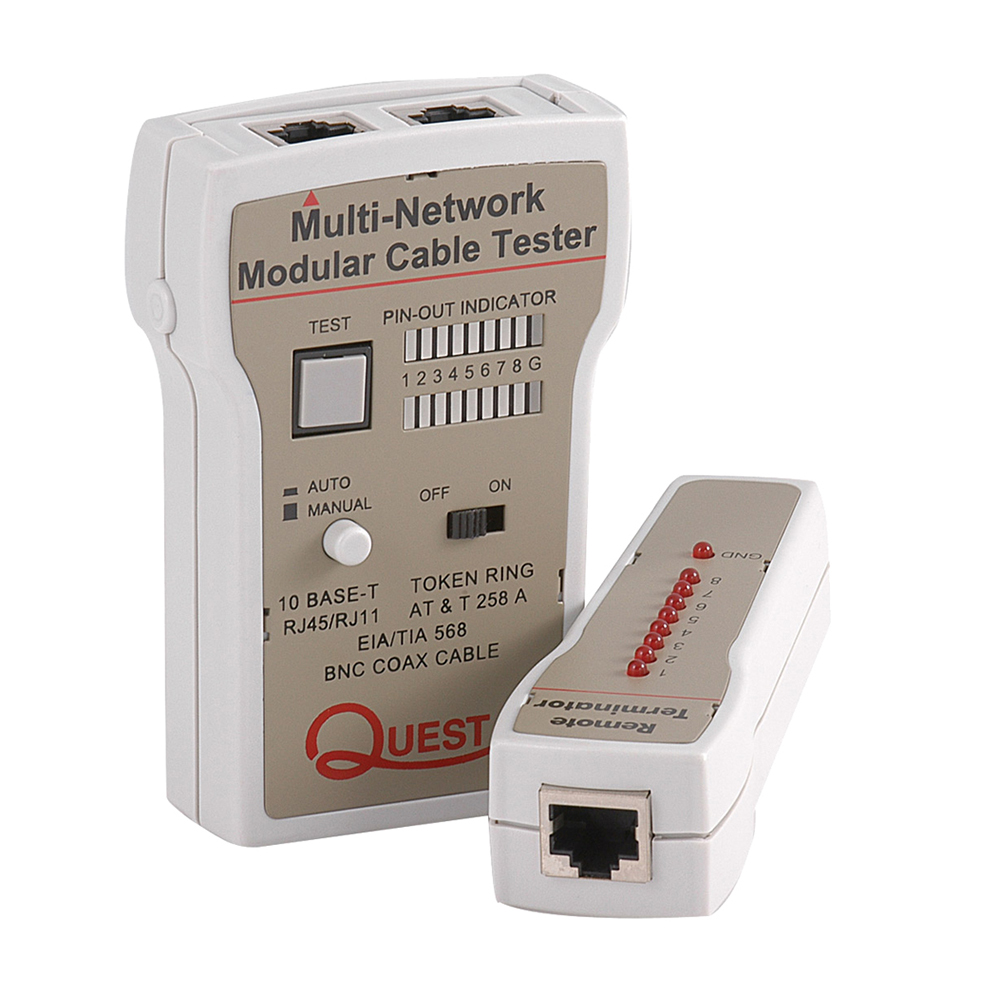 Remote Lan Coax Cable Tester Economy Quest Technology International